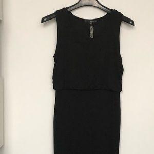 MATTY M Black Sheath Midi Dress NWT